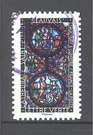 France Autoadhésif Oblitéré N°1358 (Structure Et Lumière : Beauvais) (cachet Rond) - France