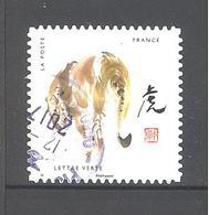 France Autoadhésif Oblitéré N°1376 (Douze Signes Astrologiques Chinois : Tigre) (cachet Rond) - France