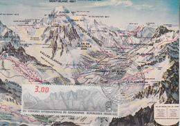 Carte  Maximum  1er  Jour    FRANCE     Congrés   International    De   Géographie     1984 - Cartes-Maximum