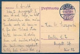 1920 , AUSTRIA  , ENTERO POSTAL CIRCULADO , VIENA - BERLIN - 1918-1945 1. Republik