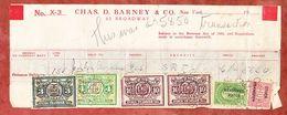 Chas D Barney & Co New York, U S Revenue Tax 1926 (55097) - Gebührenstempel, Impoststempel