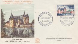Enveloppe  FDC  1er  Jour   FRANCE   Chateau  De  SULLY  SUR  LOIRE   1961 - 1960-1969