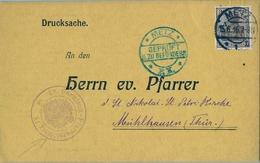 1916 , TARJETA POSTAL CIRCULADA , METZ - MÜLHAUSEN , MARCA DE CENSURA - Cartas