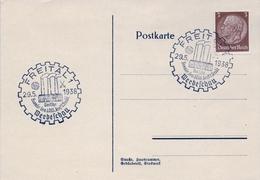 1938 , ALEMANIA , TARJETA POSTAL CON MATASELLOS DE FAVOR , FREITAL , PROPAGANDA DEL REICH - Cartas