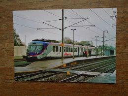 """Turbotrain Axis , Démonstrateur Pendulaire Axis De Bombardier En Gare De Messac ( 35 )"""" Carte Tirage Limitée à 1000 Expl - Eisenbahnen"""