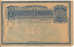 Honduras Old Postal Stationery Postcard In Mint Condition - Honduras