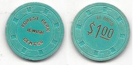 Forest Park Jewish Center $1 Chip - Casino