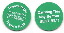Green Plastic Gambling Help Token / Chip - Casino