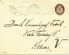 Denmark Postal Stationery Cover Naestved 3-5-1924 (the Flap On The Backside Of The Cover Is Missing) - Entiers Postaux
