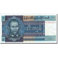 Billet, Birmanie, 5 Kyats, 1972-1979, Undated (1973), KM:57, NEUF - Myanmar