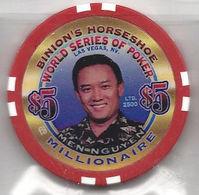 Binion's Horseshoe WSOP Millionaire Chip - Men Nguyen - Casino