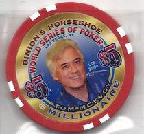 Binion's Horseshoe WSOP Millionaire Chip - Tom McEvoy - Casino