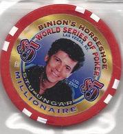 Binion's Horseshoe WSOP Millionaire Chip - Stu Ungar - Casino