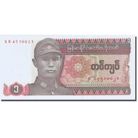 Billet, Myanmar, 1 Kyat, 1990, Undated (1990), KM:67, SPL - Myanmar