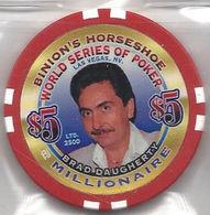 Binion's Horseshoe WSOP Millionaire Chip - Brad Daugherty - Casino