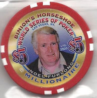 Binion's Horseshoe WSOP Millionaire Chip - Noel Furlong - Casino
