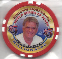 Binion's Horseshoe WSOP Millionaire Chip - TJ Cloutier - Casino