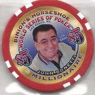 Binion's Horseshoe WSOP Millionaire Chip - John Bonetti - Casino