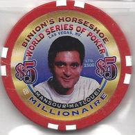 Binion's Horseshoe WSOP Millionaire Chip - Mansour Matloubi - Casino