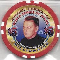 Binion's Horseshoe WSOP Millionaire Chip - Dewey Tomko - Casino