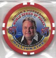 Binion's Horseshoe WSOP Millionaire Chip - Russ Hamilton - Casino