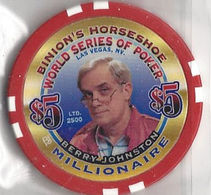 Binion's Horseshoe WSOP Millionaire Chip - Berry Johnston - Casino