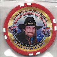 Binion's Horseshoe WSOP Millionaire Chip - Chris Ferguson - Casino