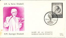 Belgium FDC 23-12-1965 QUEEN ELISABETH OF BELGIUM With Cachet - FDC
