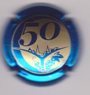 Capsule Champagne CLERGEOT Daniel ( Nr ; 50 Ans De Vignes , Contour Bleu Métallisé ) Nouvelle {S33-18} - Champagne