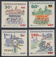 Tschechoslowakei Czechoslovakia 1977 Mi 2370 /3 ** 30th Ann. Peace Cycle Race / 30. Internationale Friedensfahrt - Wielrennen