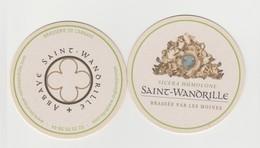 Saint WANDRILLE St Wandrille Biere SICERA HUMOLONE Sous Bocks, Recto Et Verso - Beer Mats