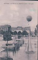 Aviation Suisse, Neuchâtel, Départ Du Ballon OURAGAN (18.1.1910) Tachée Au Dos - Montgolfières