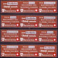 Schweiz Suisse 1942: RESISTERE-TENIR-DURCHHALTEN Alle 4 Zusammendrucke Zu Z35a-d Mi WZd8+11+13+14 ** MNH (Zu CHF 210.00) - Se-Tenant