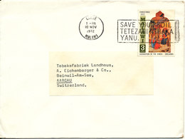 Malawi Cover Sent To Switzerland Limbe 16-11-1972 Singkle Franked Christmas Stamp - Malawi (1964-...)