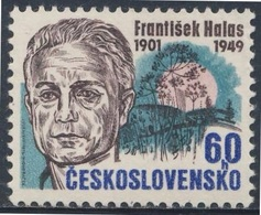 Tschechoslowakei Czechoslovakia 1976 Mi 2301 ** Frantisek Halas (1901-1949) Dichter / Poet  - 75th Birth Anniv. - Schrijvers