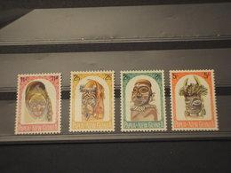 PAPUA N. G. - 1958/64 COSTUMI 4 VALORI - NUOVI(++) - Papua Nuova Guinea