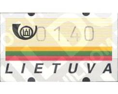Ref. 80551 * MNH * - LITHUANIA. 1995. FLAG . BANDERA - ATM - Frama (labels)