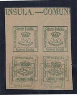 "ESPAÑA 1876 - Edifil #173 ""Sobreimpresion Doble"" - (sin Goma) (*) - Unused Stamps"