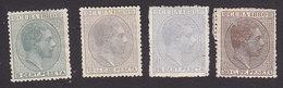 Cuba, Scott #88, 90-92, Mint Hinged, King Alfonso XII, Issued 1880 - Cuba (1874-1898)