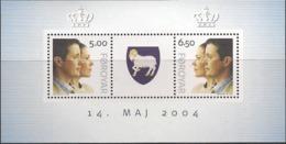 Faroe Islands 2004 Wedding Of Crown Prince Frederik And Mary Donaldson, Mi Bloc 17, MNH(**) - Färöer Inseln