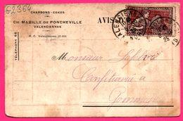 Charbons Cokes - Ch. MABILLE De Poncheville Valenciennes - Crépin - Valenciennes à Gommegnies ( Confiturerie ) - Commerce