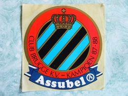 Sticker - CLUB BRUGGE K.V. - Kampioen 1987 1988 - Assubel - Autocollants