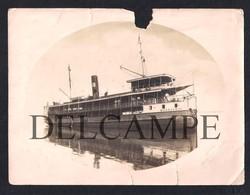 REAL PHOTO BRASIL RIO MANAUS BARCO MANAUENSE - PHOTO BAZAR SPORTIVO - MANÁOS - 1930'S (COM DANOS) - Schiffe
