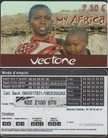 MY AFRICA VECTONE 7.50€ TELECARTE PREPAYEE 2012/12/25 - France