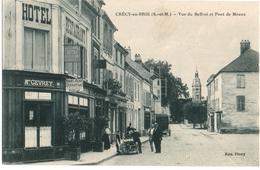 CRECY-en-BRIE (77) VUE Du BEFFROI Et PONT De MEAUX. 1917. - Sonstige Gemeinden