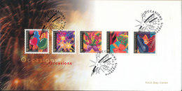 Singapore FDC 25-4-2001 Occasions Complete Set Of 5 With Cachet - Singapur (1959-...)