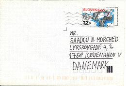 Slovakia Cover Sent To Denmark 1999 - Slovakia
