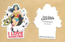 Carte Parfumée Perfume Card CLASSIQUE * I LOVE GAULTIER * JEAN PAUL GAULTIER JPG * R/V - Cartes Parfumées