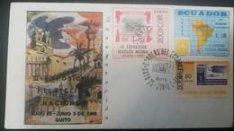 O) 1961 ECUADOR, III EXPOSICION FILATELICA NACIONAL QUITEX 1961 - III NATIONAL PHILATELIC EXHIBITION. MAPS -FDC XF - Ecuador