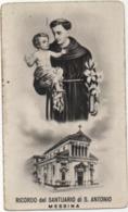 Santino Ricordo Del Santuario Di Sant'Antonio Da Padova A Messina - Devotion Images
